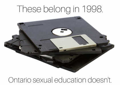 These belong in 1998 - Ontario sexual education doesn't.
